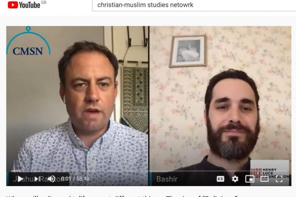 A screenshot of Dr Joshua Ralston with Dr Bashir Saade